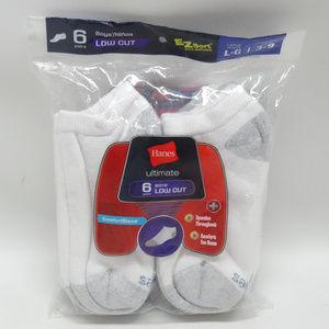 Hanes Low Cut Boys Socks Size 3-9
